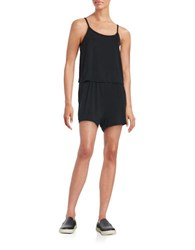 Bench Knit Popover Romper Black