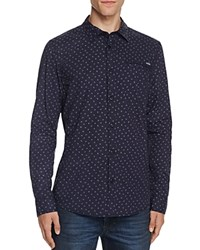 Buffalo Salvato Floral Print Button Down Shirt Compare At 79 Blue