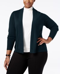 Charter Club Plus Size Cashmere Open Front Cardigan Only At Macy's Admiral Navy