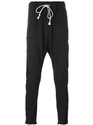 Poeme Bohemien Drop Crotch Sweatpants Black