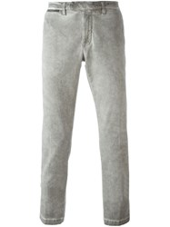 Eleventy Washed Effect Trousers Green