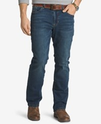 Izod Comfort Stretch Relaxed Fit Five Pocket Jeans Indigo Blue