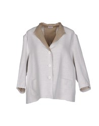 Rossopuro Suits And Jackets Blazers Women Light Grey