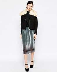 Antipodium Chaucer Silver Midi Skirt Silver