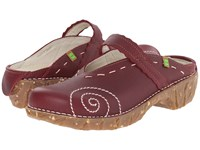 El Naturalista Yggdrasil N096 Rioja Women's Clog Shoes Red