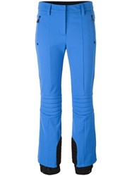 Moncler Grenoble Ribbed Panel Cropped Trousers Blue