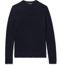 Theory Donners Cashmere Sweater Navy