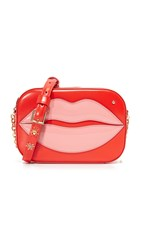 Charlotte Olympia Pouty Shoulder Bag Primary Red