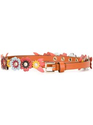 Red Valentino Flower Applique Belt Multicolour