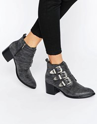 Park Lane Western Buckle Trim Boots Black