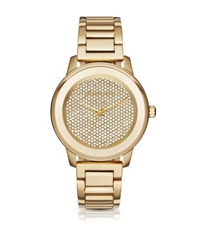 Michael Kors Kinley Pave Gold Tone Watch