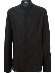 Lost And Found Doubled Darted Shirt Black