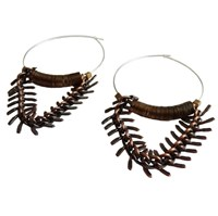 Metrix Jewelry Gold Sequin And Fish Chain Hoops