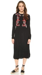 Little White Lies Precious Dress Black With Embroidery
