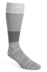 Calibrate Men's Colorblock Stripe Socks Light Heather Grey