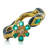 David Webb Couture Vine Bracelet Green
