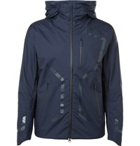 Descente Streamline Slim Fit Waterproof Shell Jacket Blue