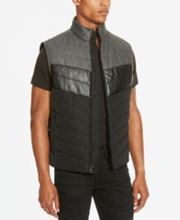 Kenneth Cole Reaction Men's Colorblocked Puffer Vest Black Combo