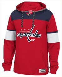 Reebok Men's Washington Capitals Jersey Pullover Hoodie Red