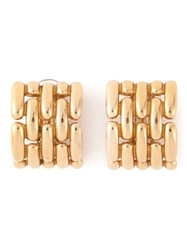 Givenchy Vintage Chunky Couture Earrings Metallic