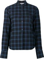 Helmut Lang Checked Shirt Blue