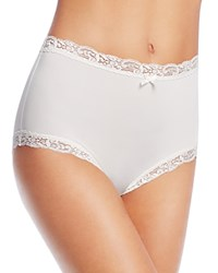 Fine Lines Microfiber Scallop Lace Full Brief Mb061 Ivory