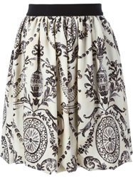 Eggs Baroque Print Skirt Nude And Neutrals