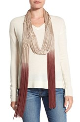 Collection Xiix Women's Ombre Braided Scarf Canyon Rust