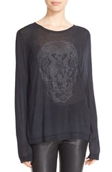Zadig And Voltaire Women's 'Willy' Skull Graphic Tee