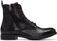 Diesel Black Leather D Kallien Boots