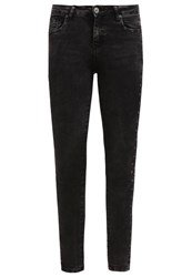 Missguided Hustler Jeans Skinny Fit Charcoal Dark Gray