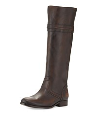 Frye Melissa Leather Tall Riding Boot Dark Brown Women's