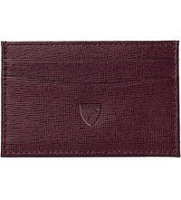Aspinal Of London Slim Saffiano Leather Credit Card Case Burgundy