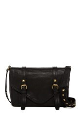 Carlos By Carlos Santana Ryan Flap Double Buckle Crossbody Black