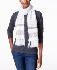 Charter Club Fair Isle Chenille Scarf Only At Macy's Neutral