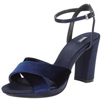 John Lewis Dusty Block Heeled Sandals Navy