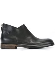Roberto Del Carlo Rear Zip Ankle Boots Black