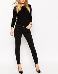 Asos Pencil Straight Leg Jeans In Washed Black Washedblack