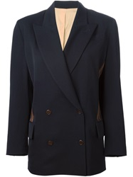 Jean Paul Gaultier Vintage Double Breasted Blazer Blue
