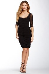 Weston Wear Gwen Gathered Mesh Dress Black