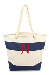 Cathy's Concepts Personalized Stripe Canvas Tote Blue Navy N