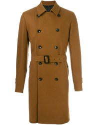 Hevo Belted Mid Length Coat Brown