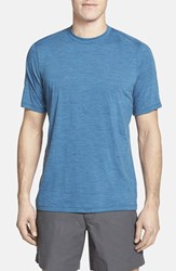 Men's Ibex Regular Fit Overdyed Merino Wool T Shirt Regatta Heather Blue