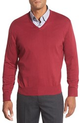 Men's Robert Talbott 'Toyon' V Neck Sweater Claret