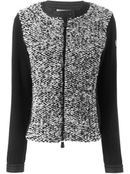 Moncler Grenoble Contrasting Front Zipped Cardigan Black