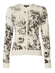 Therapy Silhouette Floral Print Cardigan Black
