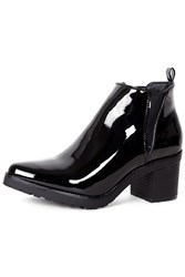 Alice And You Patent Heeled Ankle Boot Black