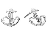 Alex And Ani Post Earrings Anchor Silver Earring