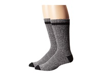 Timberland Tm31036 Rugged Cotton Crew 2 Pair Pack Grey Men's Crew Cut Socks Shoes Gray