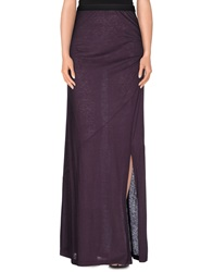 Pinko Long Skirts Dark Purple
